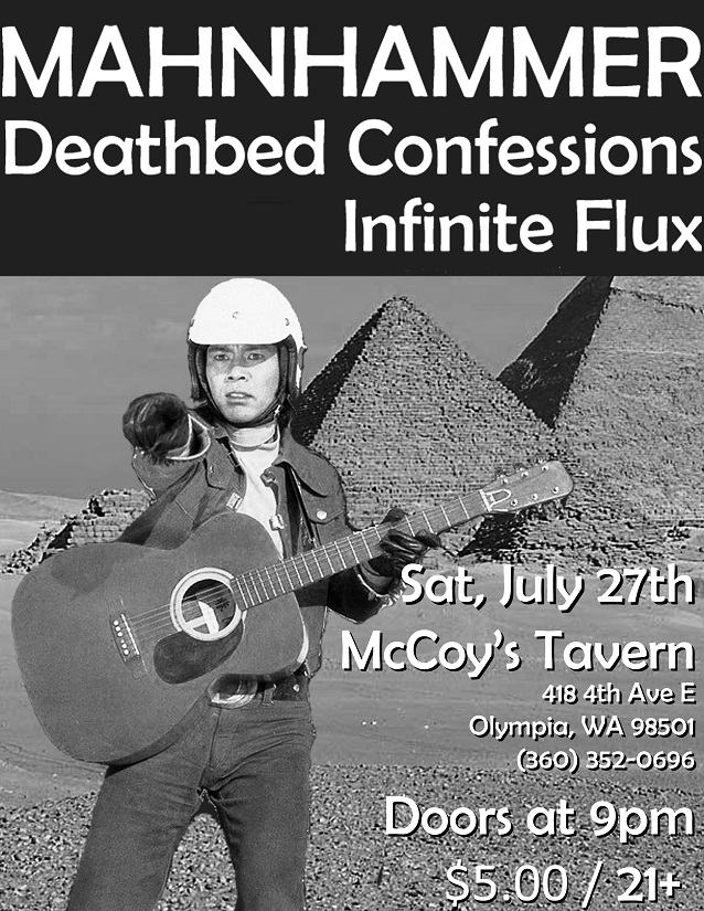 Next show is McCoy's in Olympia, 7/27
